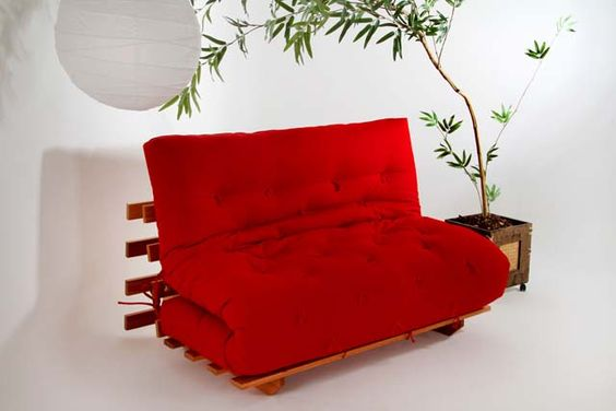 Sofá Cama Futon Modelo S Casal - Tecido 100% algodão :: Sofá Cama Futon