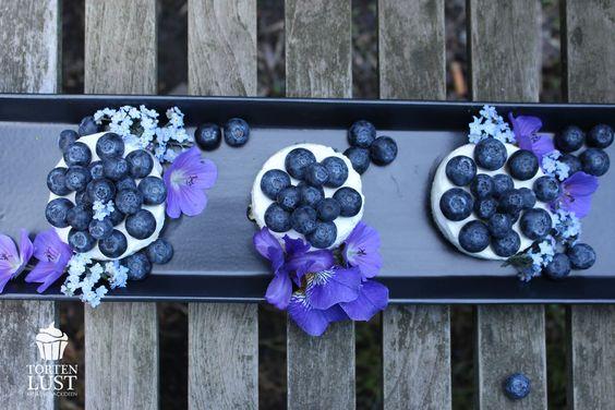 no bake Blaubeer- Frischkäse- Törtchen