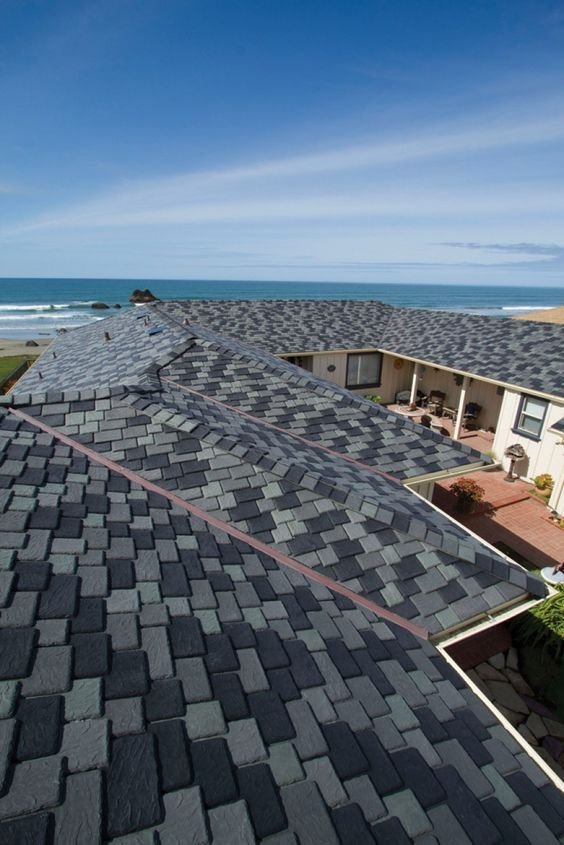 Selecting roofing colors that complement the rest of the for Polymer roofing