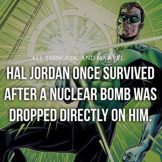 Hal Jordan Survived Nuclear Bomb