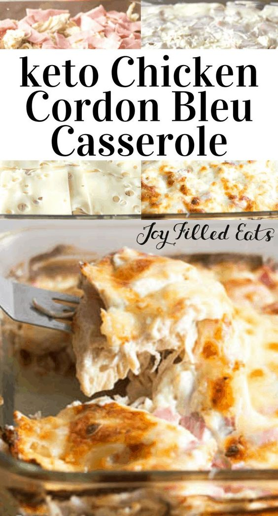 Chicken Cordon Bleu Casserole - Keto, Low Carb, Gluten-Free, Grain-Free, THM S. This Chicken Cordon