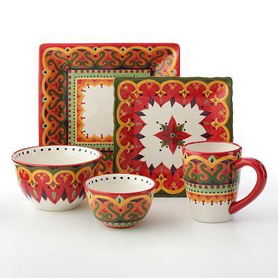 Corsica tivoli dinnerware a mix of plates these different colors dinnerware place settings - Tivoli kitchenware ...