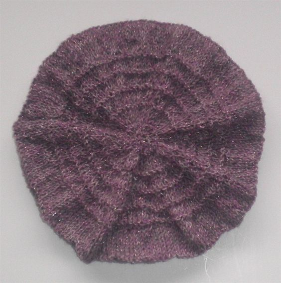 Purple Beret Knitted Toddler Girl Hat by NeedleCraftNook on Etsy