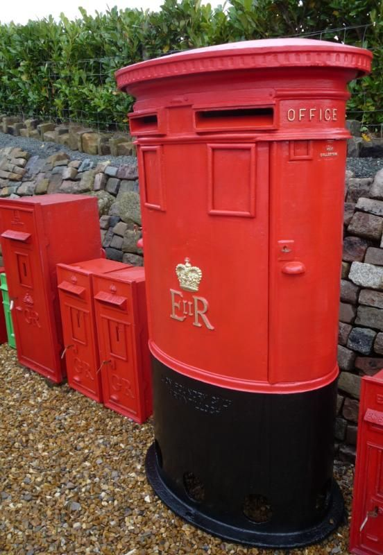antique Royal Mail pillar boxes or post boxes