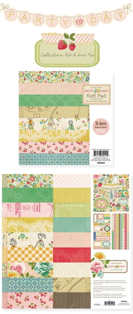 Crate Paper Pretty Party collection, the strawberries are perfect to scrap Lulu's 4th birthday!