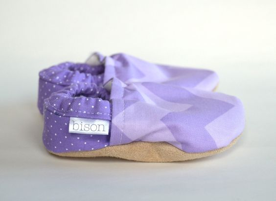 Purple Chevron Zig Zag Bison Booties - made in USA. $28.00, via Etsy. I need to have a little girl so I can get these!