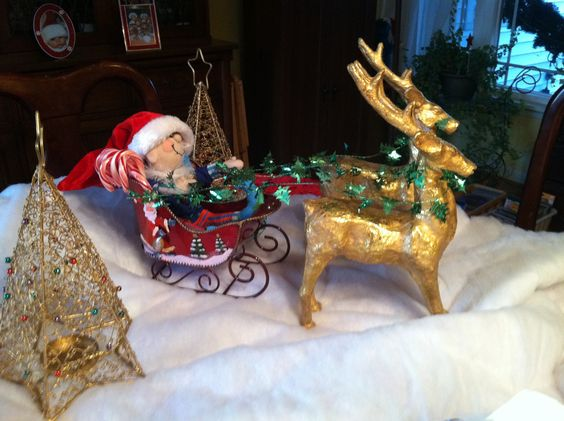 Elf in a sleigh