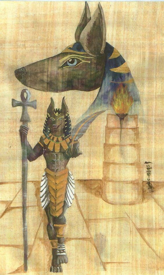 Também supervissionava a pesagem da alma com a pena da Verdade. Seu julgamento fiel e imparcial era aceito por Thot, Maat, Horus e Osíris.