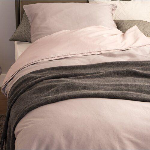 Mako Satin Bettwasche Pure Schoner Wohnen Grosse 155 B X 220 L Cm 1 Kissen 80 X 80 Cm Farbe Rosa Schlammgrau Bettwasche Modern Wohnen Schoner Wohnen