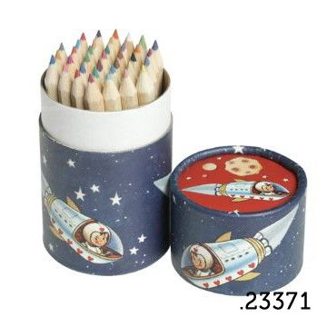 .23371 _ 36 lápis de cor menino no espaço | 36 pencil tube spaceboy (altura|height 10cm) _ ♥ 5.00   www.atelierdatufi.com | info@atelierdatufi.com