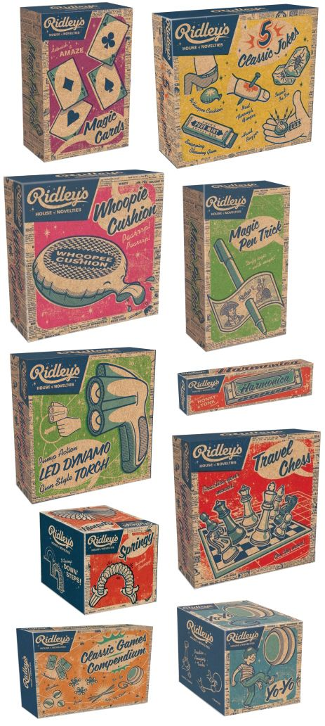 Ridley's house of novelties makes the most beautiful retro packaging!