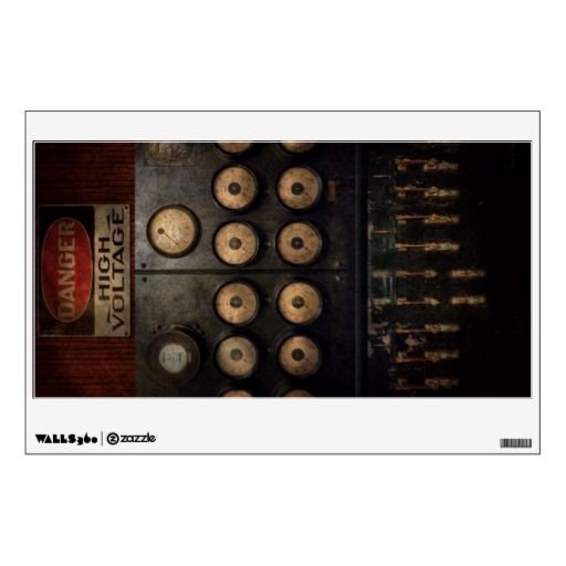Steampunk - Electrical - Centre of power Wall Decal