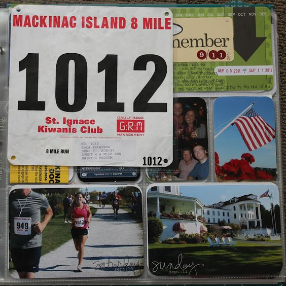 race day scrapbook ideas