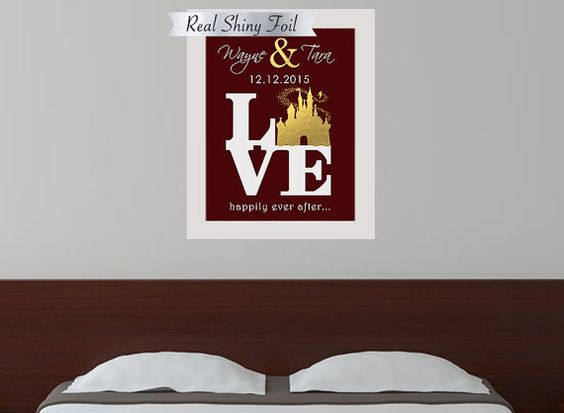 personalized disney wedding anniversary gift for couples unique