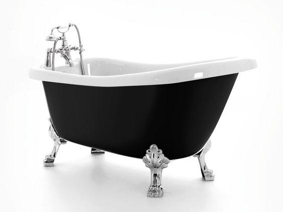 Die geräumige Single-Badewanne umschwebt ein Hauch von Luxus. Form und verzierte Füße haben etwas Glamouröses, dem ein ausgezeichneter Liegekomfort im Inneren der #Badewanne entspricht. Das Modell Blackpool ist in einer attraktiven Schwarz-Weiß-Variante erhältlich. http://www.baedermax.ch/freistehende-badewannen/acryl/blackpool-84rm.html