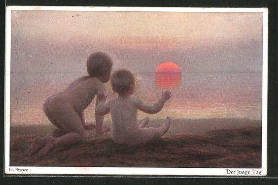Künstler-AK Wohlgemuth & Lissner, Primus-Postkarte No. 3012: der junge Tag…