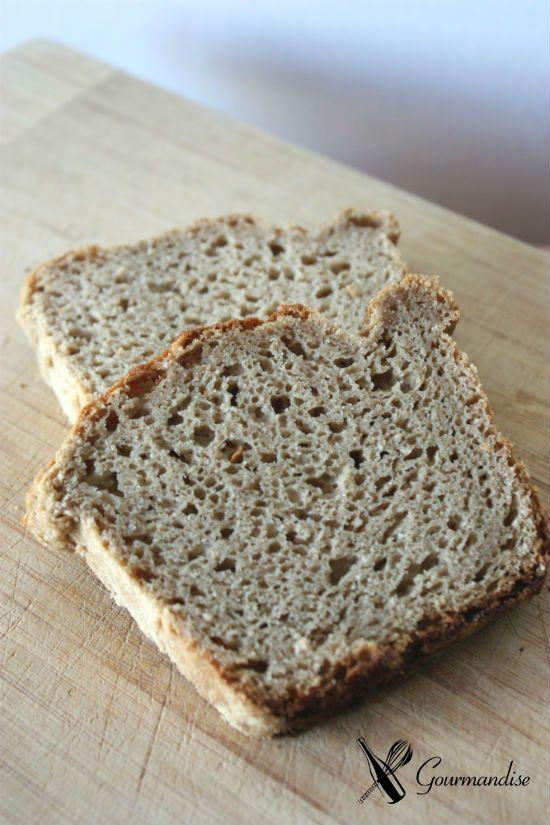 Gourmandise pão de teff sem gluten