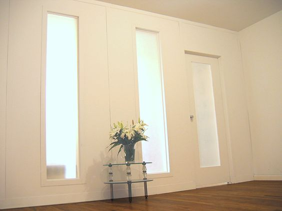 Temporary wall frosted glass and doors on pinterest for Removable walls and doors