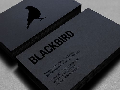 black on black letterpress business card Branding and Identity - Letterpress Business Card