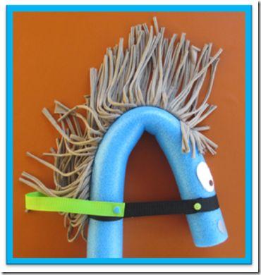pony geburtstag pferdchen aus pool nudel basteln