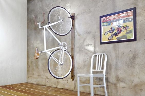 Mission Bicycle, Hardwood Wall Rack: here