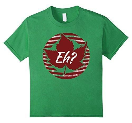 Kids Happy Canada day EH? day Awesome T-shirt 10 Grass