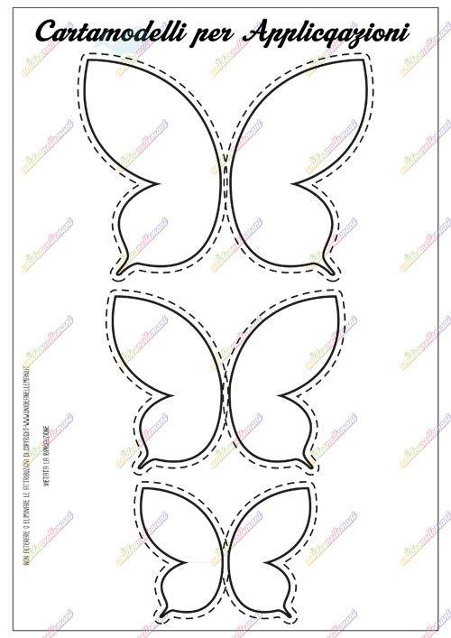 Cartamodello Farfalla Da Stampare Disegni