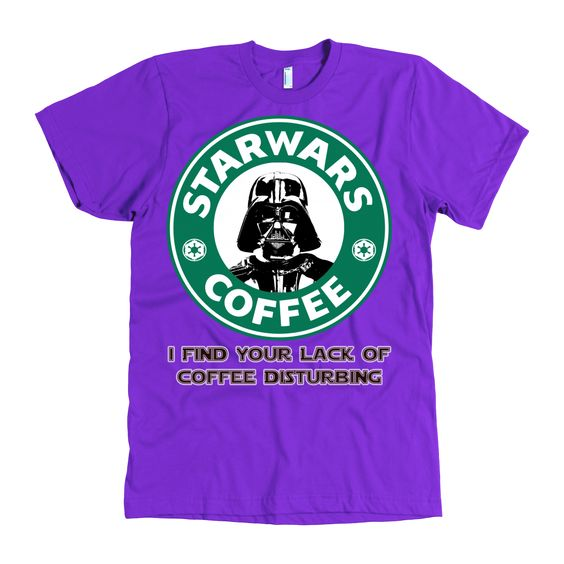 Lack of Coffee Star Wars Inspired Darth Vader Coffee American Apparel Mens Shirt