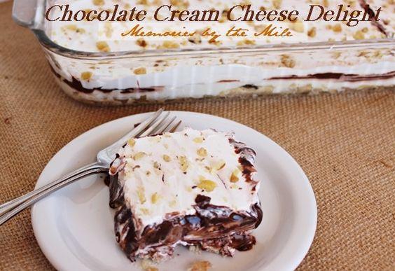Chocolate Cream Cheese Delight #desserts