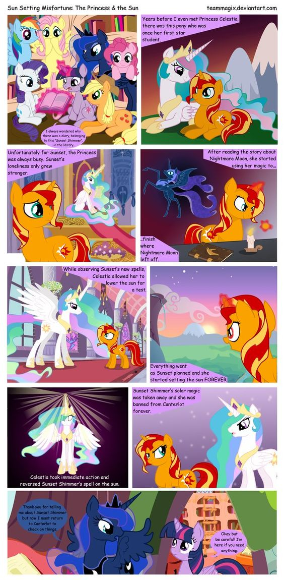 Sun Setting Misfortune MLP The Princess + the Sun by teammagix ...........number 5
