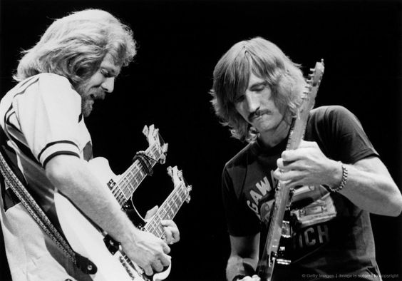 """Team """"Hotel California""""  Don Felder, Joe Walsh. Without Felder, a bit of the magic is missing, but not enough to skip a concert."""