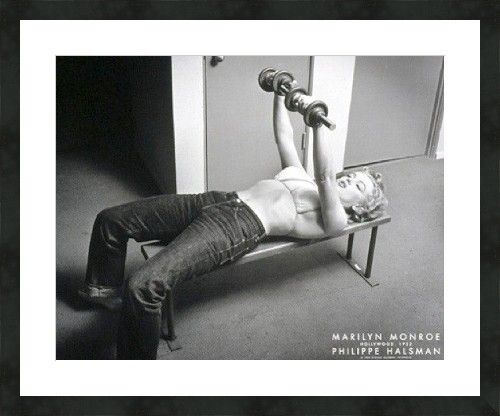 "Marilyn Monroe Barbells Photo Halsman Museum Framed Print 30""x36"" Ready to Hang 