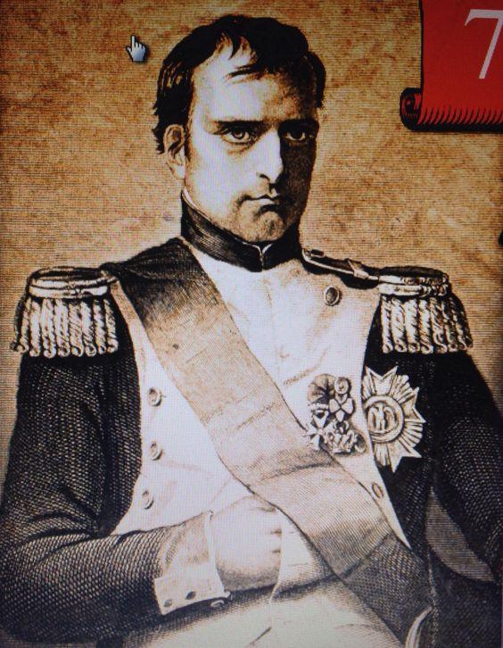 """Napoleão Bonaparte com a """"mão invisível"""", """"mão oculta"""""""