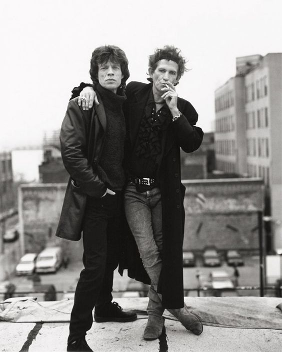 Mick Jagger and Keith Richards by Sante D'Orazio | Mick ...