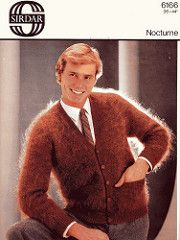 Sirdarbrack_11 (Homair) Tags: men vintage fuzzy fluffy mohair cardigan sirdar