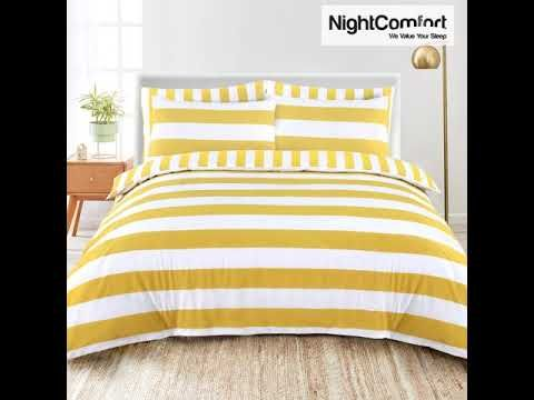 Striped Duvet Cover Mustard With White Combination Striped Duvet Duvet Covers Duvet