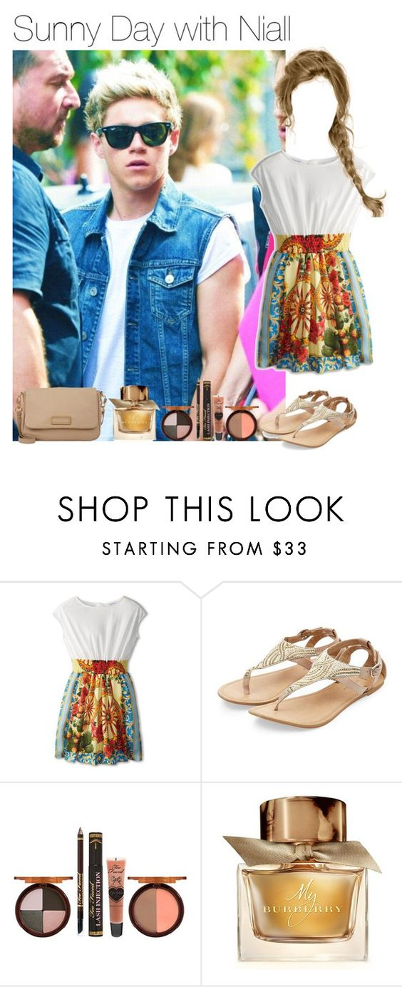 """""""Sunny Day with Niall"""" by liamismybabe ❤ liked on Polyvore featuring Dolce&Gabbana, Too Faced Cosmetics, Burberry, Marc by Marc Jacobs, OneDirection and NiallHoran"""