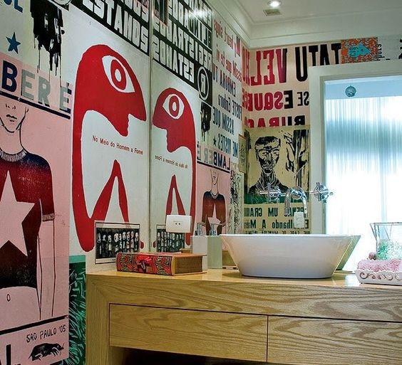 blog de decoração Um lar para Amar: Cartaz Lambe-lambe na decoração (Aqui têm borogodó meu bem! - Pôster)