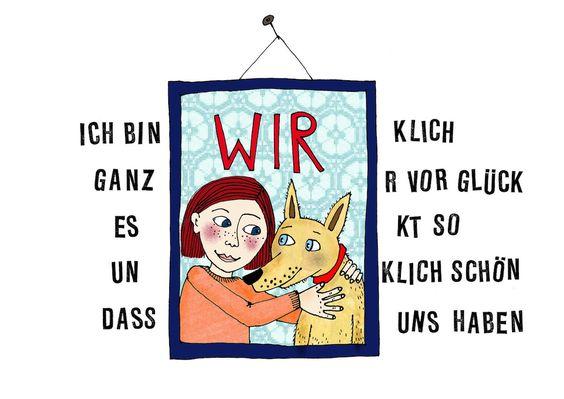 Poster oder Postkarte mit Illustration von Antje Damm aus 100 % Recyclingpapier