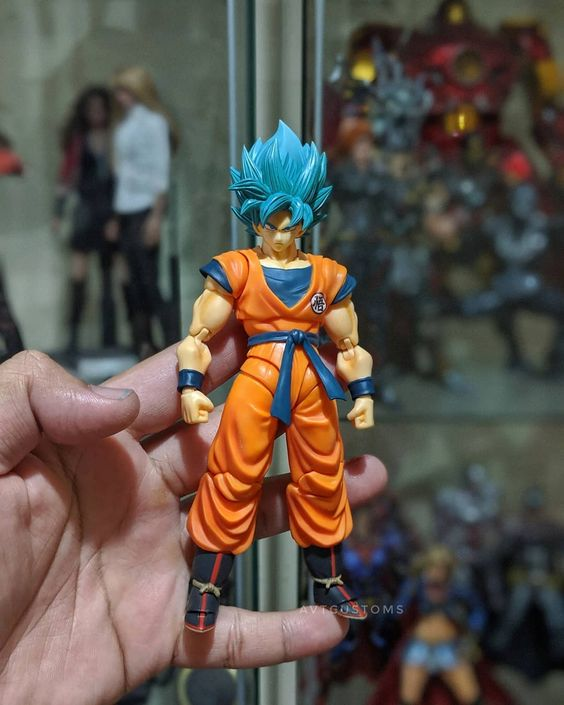 Shf Super Saiyan Blue Goku Hair Repaint By Avtcustoms Super Saiyan Blue Goku Hair Dragon Ball Wallpapers
