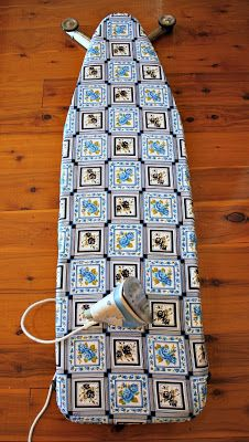 """Bloom: Mum's 30-minute reversible ironing board cover """"Best Tutorial I've seen yet for an ironing board cover""""..."""