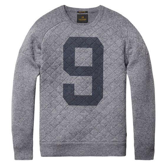 Grey Pullover Sweater by Scotch & Soda