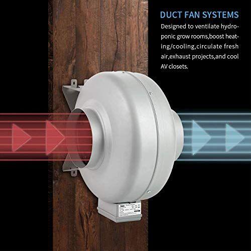 inch 154 cfm inline ventilation fan