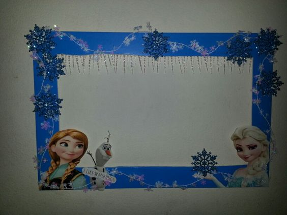 A Frozen theme picture frame I made for my niece's birthday party: