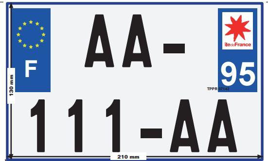 Journal Officiel : Harmonisation des plaques pour les 2, 3 et 4 roues (Arrêté du 17/02/15)