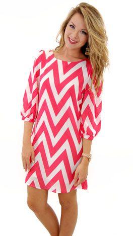 Pink Chevron Dress