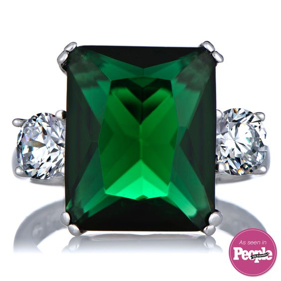 Lisbeth's Green CZ Cocktail Ring size 5