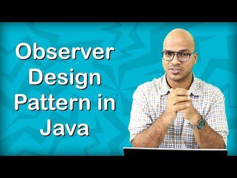 Observer Design Pattern In Java Youtube Design Patterns In Java Pattern Design Software Design Patterns