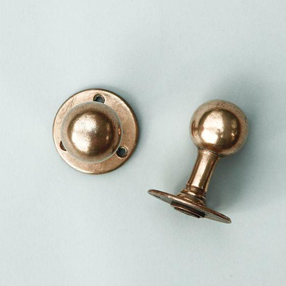 背高の真鍮ドアノブ 店舗 住宅ドアなどに 英国アンティーク 複数在庫