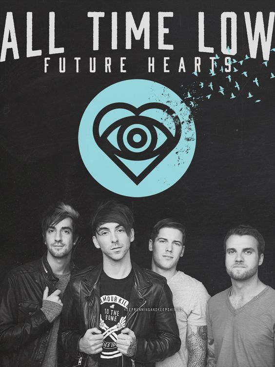 """*screams* """" All Time Low - Future Hearts. """">>>>>BEST ALBUM EVER!>>>>I CANNOT STOP LISTENING TO IT I LOVE SATELLITE AND MISSING YOU AND KIDS IN THE DARK JUST ALL OF IT."""